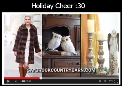 Holiday TV Commercial Saybrook Country Barn
